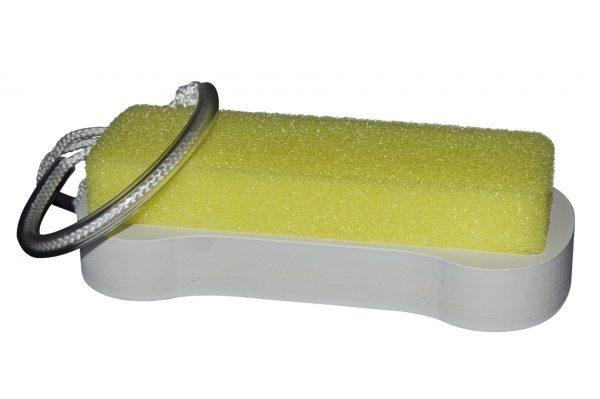 Brosse jaune pour entretien des parois transparentes des aquariums